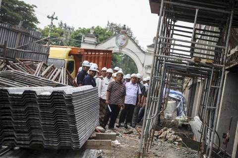 Komisi III DPRD Solo Sidak Pembangunan Pasar Klewer