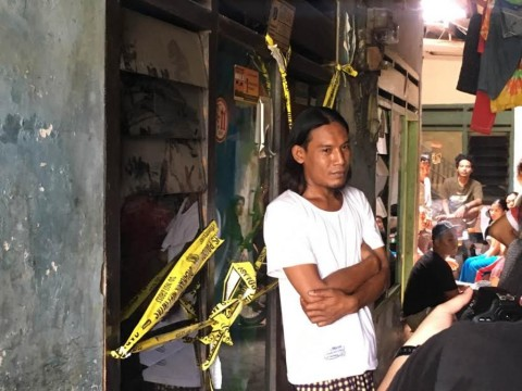 Garis Polisi Masih Melintang di Kontrakan Pelaku Mutilasi