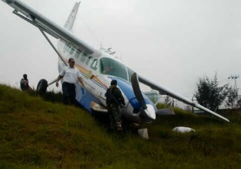 Pesawat Asian One Tergelincir di Papua