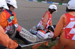 Pedrosa Pasang Penyanggah Tulang Selangka di Spanyol