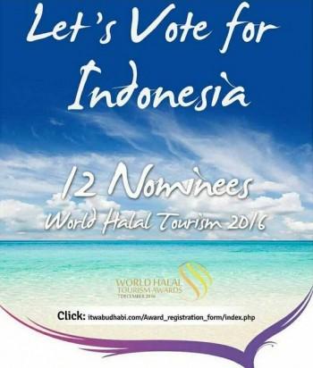 Mana Suaramu? Pilih Indonesia di World Halal Tourism Awards 2016