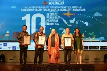 Menpar Abadikan Arsitek Pemenang Aristektur Nusantara