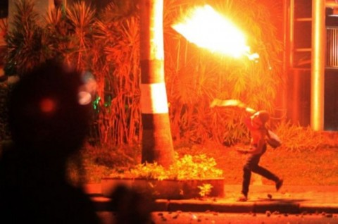 Bom Molotov Meledak di Depan Kantor JNE Ambon