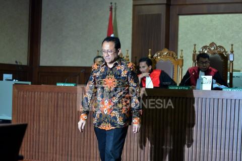 Irman Gusman Jalani Sidang Perdana
