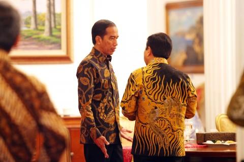 Jokowi Terima 4 Pimpinan DPR di Istana Bahas Revisi UU MD3