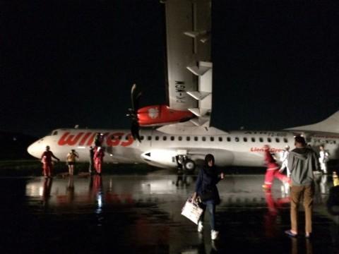 Pesawat Wings Air Tergelincir di Bandara Ahmad Yani