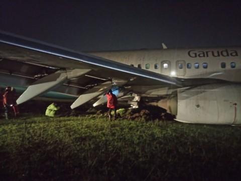 Kronologi Tergelincirnya Pesawat Garuda Indonesia