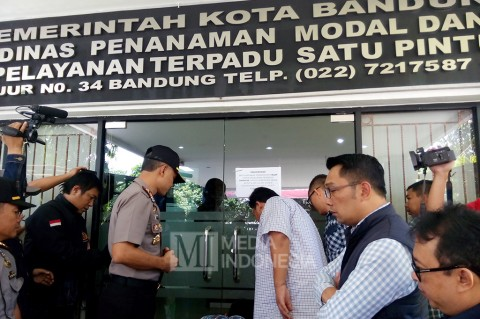 Pasca-OTT, Kantor DPMPTSP Bandung Kembali Dibuka