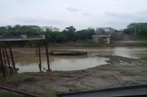 Hampir Dua Tahun, Pembangunan Jembatan Senilai Rp11,9 M belum Rampung