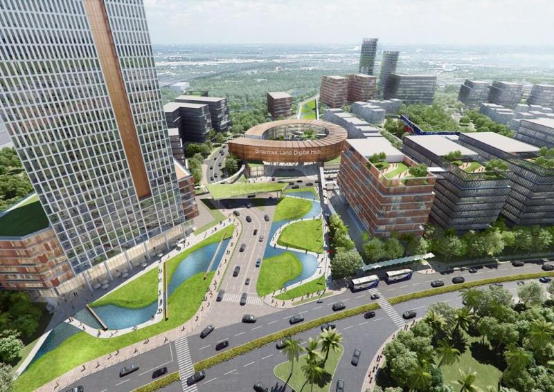 Sinar Mas Land akan mulai membangun kawasan Digital Hub pada 2017, yang dijuluki sebagai Silicon Valley Indonesia (Foto:Dok.Sinar Mas Land)