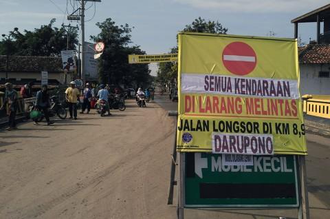 Jalur Alternatif Kendal-Semarang Ditutup
