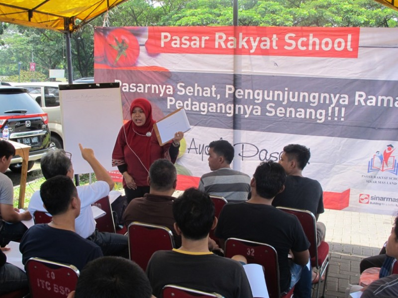 Sinar Mas Land gelar pasar rakyat school. (FOTO: dokumentasi Sinar Mas Land)