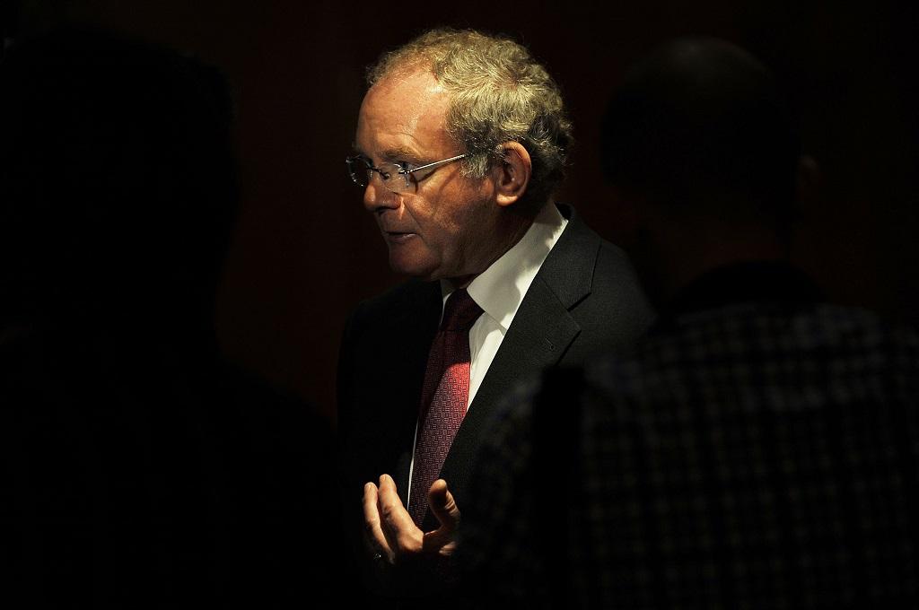 Martin McGuinness, Mantan wakil menteri pertama Irlandia Utara dan bekas komandan IRA. (Foto: AFP/BEN STANSALL)