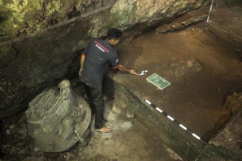 Dua Kerangka Manusia Purba Ditemukan di Goa Pawon