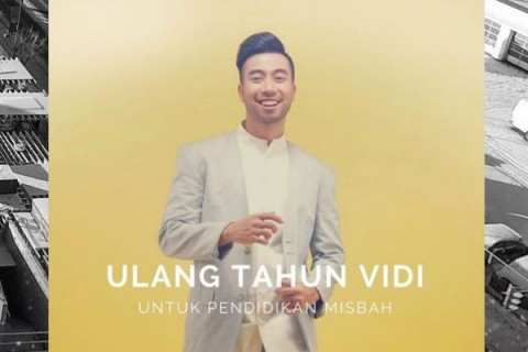 Rayakan Ultah, Vidi Aldiano Galang Dana untuk Siswa Kurang Mampu