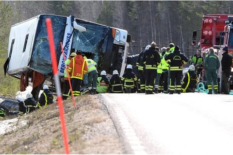 Bus Rombongan Pelajar di Swedia Terguling, 3 Tewas