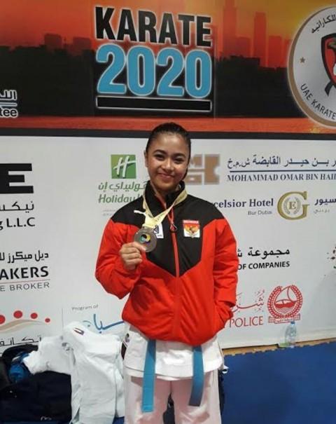Karateka Sulsel Raih Medali Perak Kejuaraan Internasional di Dubai