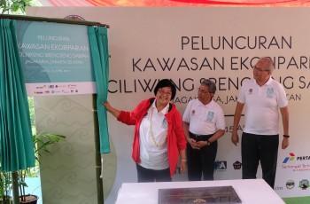 Pulihkan DAS Ciliwung, Menteri LHK Resmikan Ekoriparian Srengseng Sawah