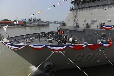 Menhan Berangkatkan Ekspor Kapal Perang ke Filipina