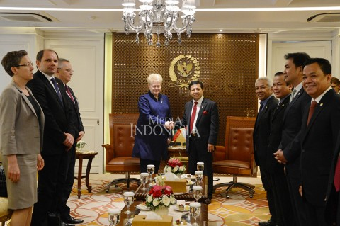 DPR Terima Kunjungan Presiden Lithuania
