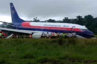 Sriwijaya Air Tergelincir di Bandara Manokwari