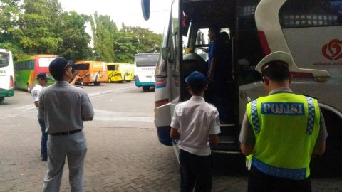 Sejumlah Bus di Terminal Giwangan Tak Layak Jalan