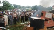 Polrestabes Medan Musnahkan 670 Mesin Judi