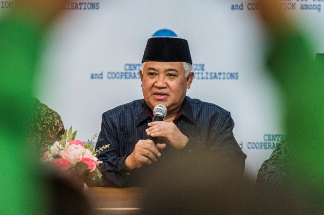 Ketua Umum PP Muhammadiyah Din Syamsudin. Foto: Antara/Agung Rajasa