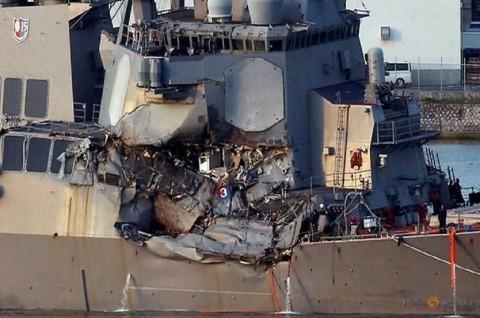 Beberapa Jasad Pelaut dari USS Fitzgerald Ditemukan