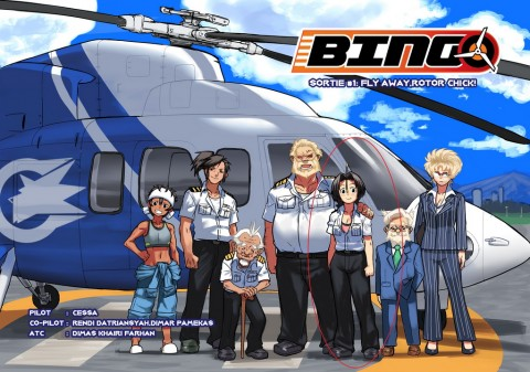 Mengenal Industri Helikopter Komersial Indonesia lewat Komik Bingo