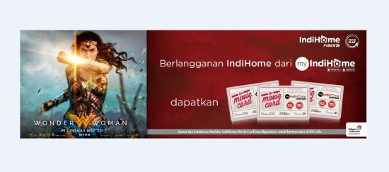 Telkom Indonesia, dan Cinema 21 XXI Luncurkan IndiHome Movie Card