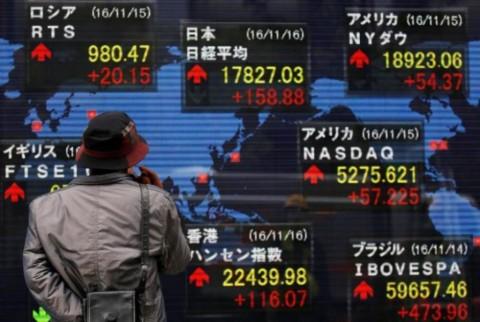 Gerak Bursa Saham Asia Siap untuk Menguat