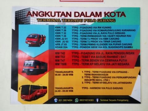 Daftar Transportasi Umum Pendukung di Terminal Pulogebang