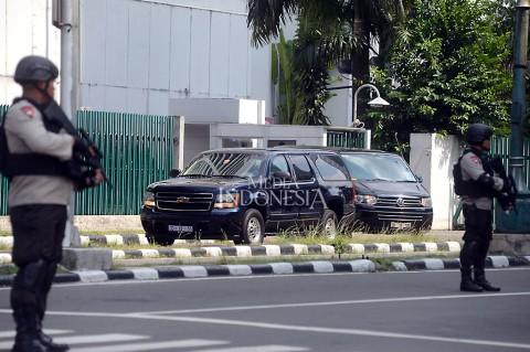 Rombongan Obama Tinggalkan Hotel Mandarin