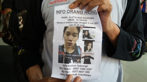Siswi SMK Sudirman Jaktim Hilang di Stasiun Tugu Yogya