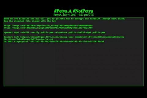 Pencipta Ransomware Petya Tuntut Bayaran Rp3,3 Miliar