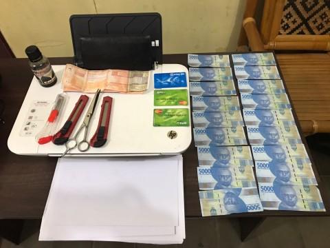 Polres Binjai Ringkus Pembuat Uang Palsu