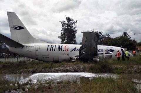 Pesawat Kargo Tergelincir di Bandara Wamena