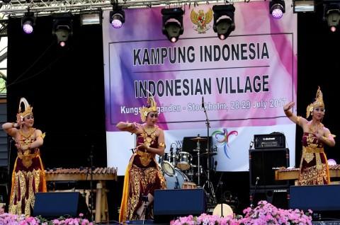Ratusan Orang Hadiri Acara Kampung Indonesia di KBRI Stockholm