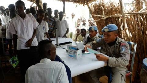 Pengungsi Sudan Serbu Tim Medis Indonesia