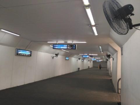 Pengguna <i>Underpass </i> Stasiun Manggarai Masih Minim