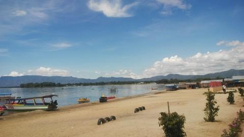 Pantai Lumban Bulbul Hamparan Pasir Putih Di Tepian Danau Toba