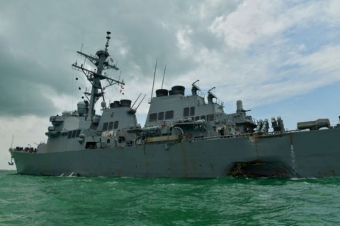 4 Korban Terluka Tabrakan Kapal Perang AS Dibawa ke Singapura