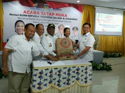 Harga Semen di Puncak Jaya Turun Jadi Rp500.000/Sak