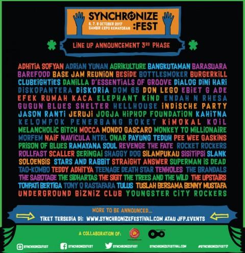 Slank dan SID Masuk Jajaran Pengisi Synchronize Festival 2017