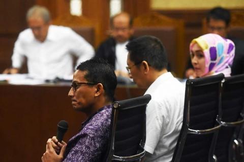 Sandiaga Uno Bersaksi untuk Terdakwa Dudung Purwadi