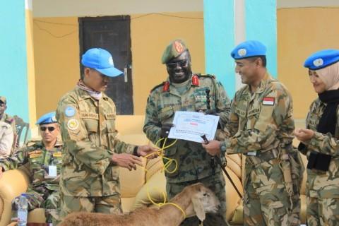 Satgas Indobatt-03 Rayakan Iduladha di Sudan