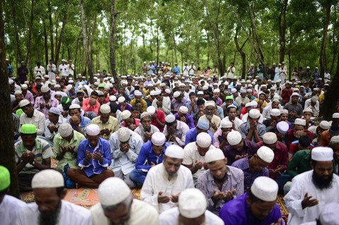 Etnis Rohingya Rayakan Iduladha di Pengungsian