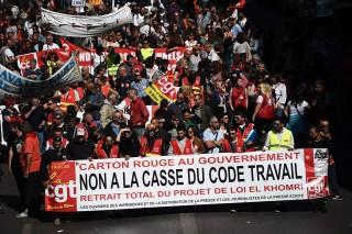 Serikat Buruh Prancis Mogok Kerja Tentang Reformasi Ketenagakerjaan