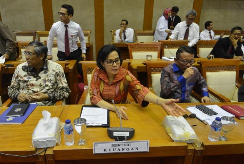 Menteri Keuangan Sri Mulyani. (FOTO: ANTARA/AKBAR NUGROHO GUMAY)